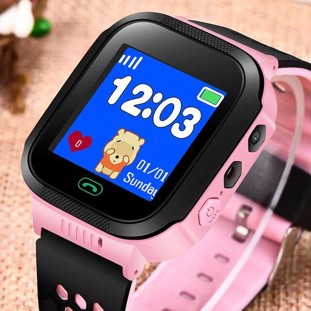 BANGWEI 2018 Bambini Orologio Intelligente OLED Touch Screen a Colori Di Chiamata di Emergenza SOS LBS Posizionamento di Sicurezza Del Bambino Orologio Digitale Orologio