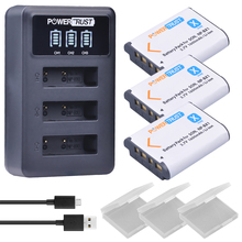 3Pcs 1600mAh NPBX1 NP BX1 NP-BX1 Batteries + LED 3 Port USB Charger for Sony DSC-RX100 DSC-WX500 HX300 WX300 HDR AS100v AS200V