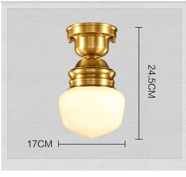 American Copper Plafon Retro Vintage stropní světlo pro domácí - Vnitřní osvětlení - Fotografie 4