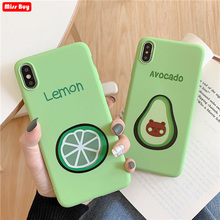 Summer Avocado Lemon case for Huawei P Smart Plus 2019 Y6 Pro Y7 Y9 Honor 7a 7C Cover Soft TPU Silicone Fundas