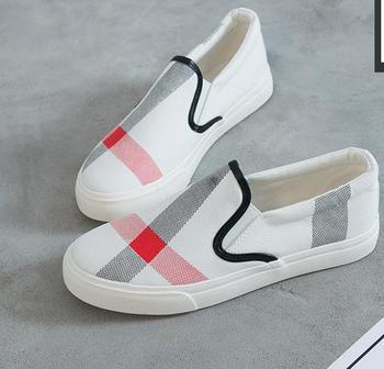 2018 women casual shoes summer autumn fashion brand breathable canvas shoes lazy slip-on women shoes women flat espadrilles 1