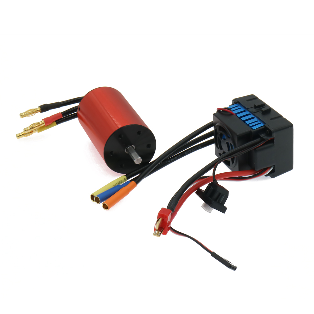 RCAWD 60A Waterproof Esc Electronic Speed Controller+3660 Kv2500 Brushless Inrunner Motor Combo For Rc Hobby Model Car Boat Hsp 1pc 320a 320amp hv high voltage brushed esc electronic speed controller for rc model car boat hsp traxxas arrma himoto td 005