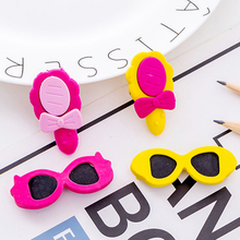 2pcs/bag Girl dress up Rubber Erasers kawaii school office erasers supplies papelaria  child Learning Correcting stationery
