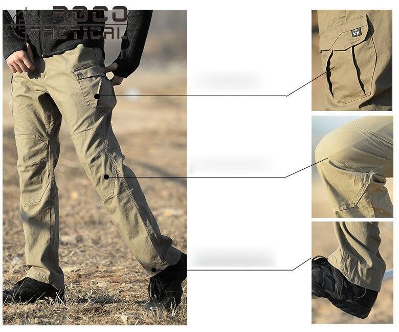 US $41.12 20% OFF|ROCOTACTICAL Mens Hochwertigen Taschen Taktische Hosen Lose Military Cargo Pants Outdoor Camping Wandern Hosen in ROCOTACTICAL Mens