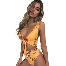 2019 New WomenS Swimsuit Is Bow Bikini High Waist Split Hot Ladies