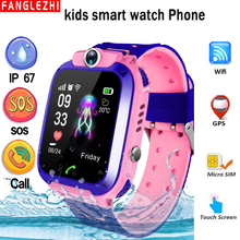 Q12 Smart Phone Watch for Children Student Smartwatches 2019 New Waterproof WIFI+GPS Positioning With SIM Card SOS Call Sports