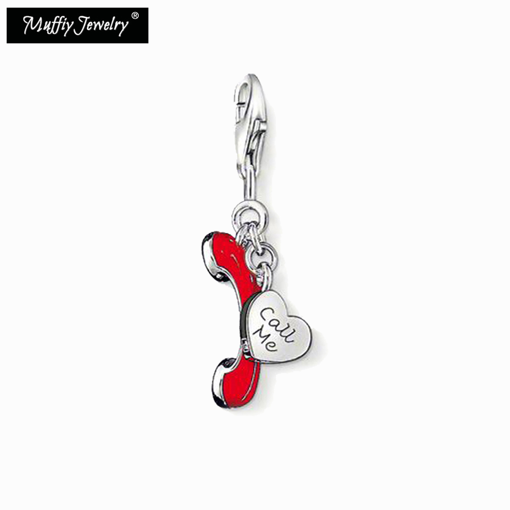 Call Me Charms,Europe Style Muffiy Club Good Jewerly For Women,2018 Love Valentine's Day Gift In 925 Sterling Silver,Super Deals image