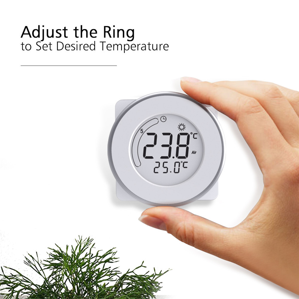 LCD Display Thermostat with white backlight Temperature Controller For Valve Floor heating the Heating wall Electric heater electric floor heating room touch screen thermostat warm floor heating system thermoregulator temperature controller 220v 16a