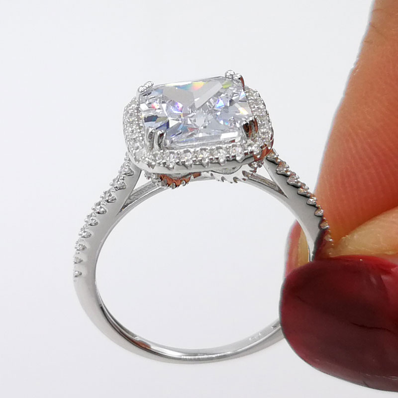 2.25 Ct Brilliant Cut Antique Halo Engagement Ring Sterling Silver S925