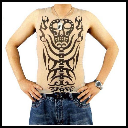 50pcs/lot Sleeveless Tattoo Shirts Fashionable tattoo gifts Tattoo Clothing from YiWu  Best t shirts for Promotional Gifts