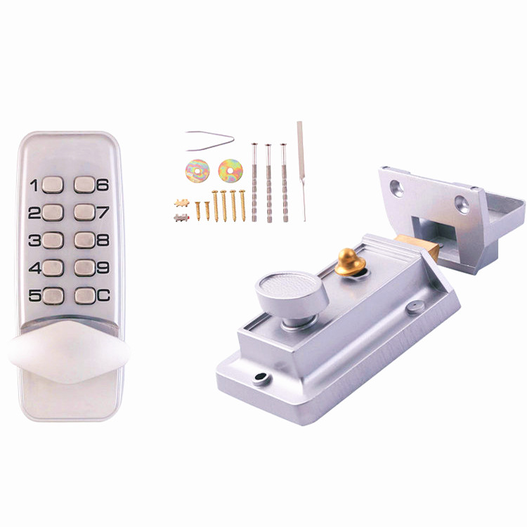 Generation Keyless Mechanical Keypad Code Keypad Lock Digital Locker Home Entry Security Safety Door Locks 380b mechanical keyless digital keypad code locker home entrance safety lock stainless steel material 35 50mm door thickness