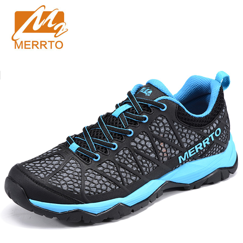 MERRTO Men's Outdoor Hiking Shoes Walking Breathable Air Mesh Shoes Camping Trekking anti-skid damping Climbing Mountain Sneaker 4pcs set hand tap hex shank hss screw spiral point thread metric plug drill bits m3 m4 m5 m6 hand tools