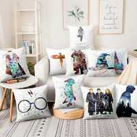 Anime Snape Watercolor Illustration Printed Pillowcase Thin Linen Cushion Decorative Pillow Home Decor Sofa Throw Pillow