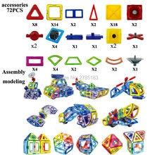 72PCS Magnetic Blocks Set Kids Magnetic Toys Construction DIY Building Blocks for Creativity Educational Assemble Bricks Toys