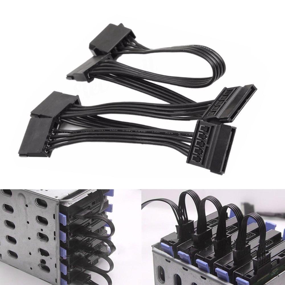 Chaude 4 Broches IDE à 5 Serial SATA Hétéro Hard Drive Power Adapter Câble Fil Ligne XXM8