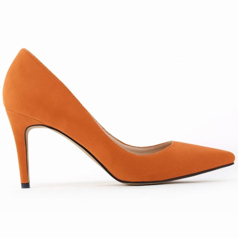 LOSLANDIFENClassic Sexy Spitz Mitte High Heels Damen Pumps Schuhe - Damenschuhe - Foto 3