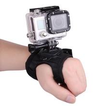 Большой/Маленький Размер 360 Градусов Вращения Перчатка Стиль Запястье Крепление палм ремень для gopro hero 5 4/3 +/3/2 xiaoyi sjcam спорт камера