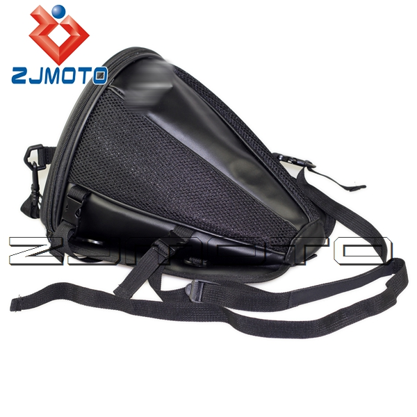 Exceptional ZJMOTO Free Shipping Black Back Seat Rear Storage Motorcycle Bag Motorbike  Accessories Package Saddle Bag