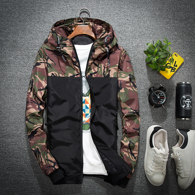 New Mens Jacket Fashion Windbreaker Hooded Military Men Jacket Coat For Drop Shipping ...
