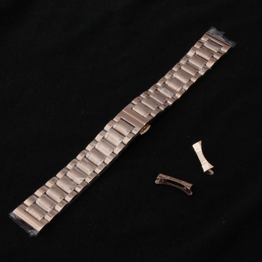 14mm 15mm 16mm 17mm 18mm 19mm 20mm Watch band strap Bracelets Watchbands Free curved end replacement accessories for watches men black metal stainless steel watchbands straps bracelets with curved end watch band 14mm 15mm 16mm 17mm 18mm 19mm 20mm 21mm 22mm