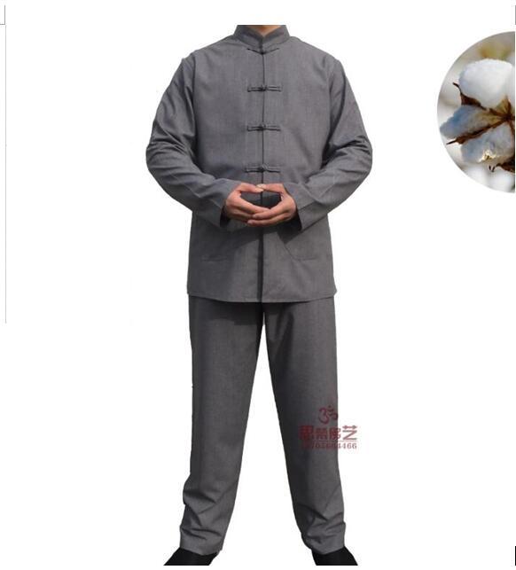 Zen Clothing Man Habitat Service Buddhist Supplies Chinese Monk Robe Tangzhuang Clothing