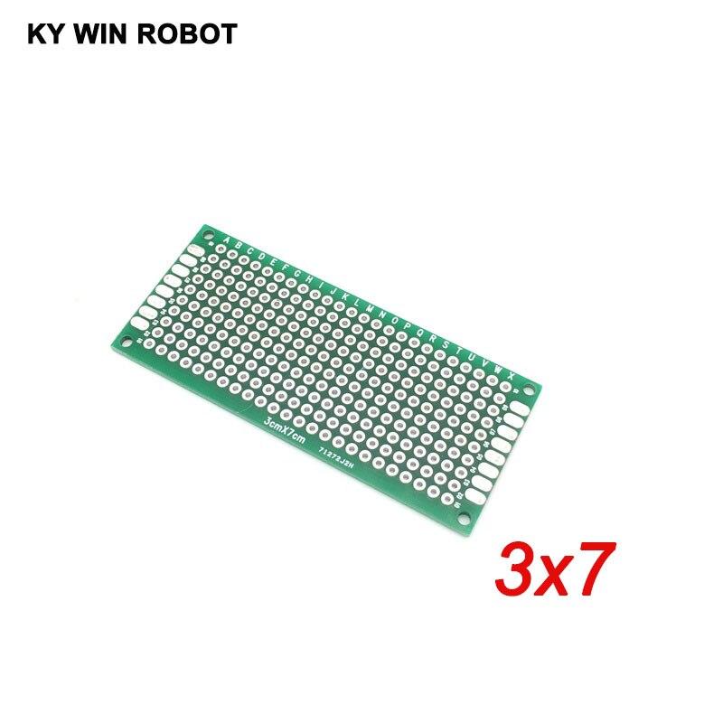 5 Pcs 3x7cm Double Side Prototype PCB Universal Printed Circuit Board