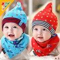Princess baby hat newborn sleeping cap pullover cotton cloth cap baby bib hat twinset