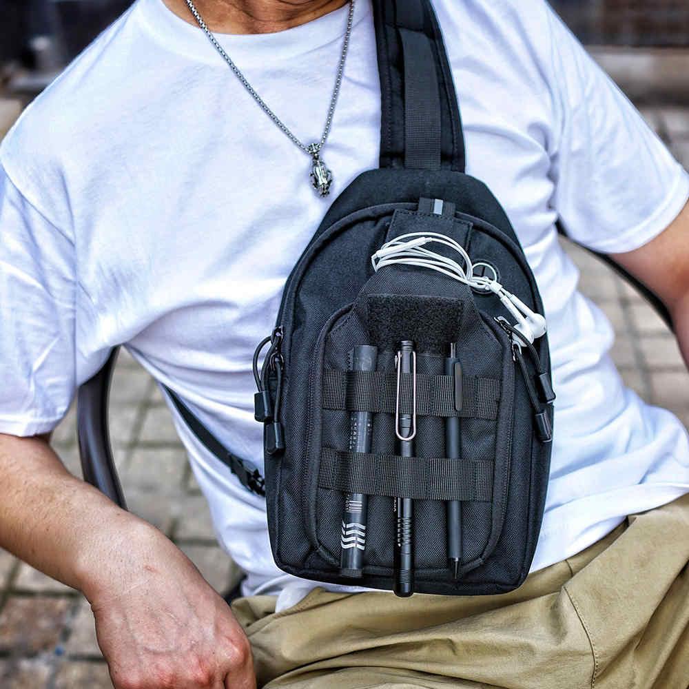 Новые мужские сумки через плечо Чехол Мужская лямка нагрудный комплект для мобильного телефона рюкзак для отдыха Повседневный пенал сумочка