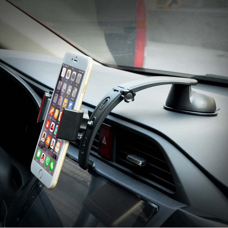 Universal Long Arm <font><b>360</b></font> <font><b>Degree</b></font> <font><b>Rotation</b></font> <font><b>Car</b></font> Windshield Phone <font><b>Holder</b></font> <font><b>Mount</b></font> Cradle <font><b>Suction</b></font> <font><b>Cup</b></font> Stand soporte movil for iPhone 6 6S