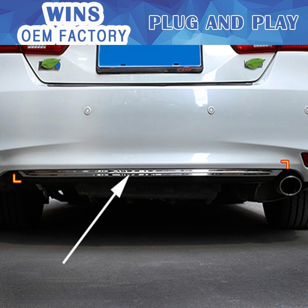Стайлинга автомобилей аксессуар задний бампер пластина задний бампер для Тойота Камри 2015 - 2017 нержавеющей стали или ABS хром 1шт./набор