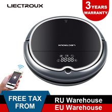 (Promotion)LECTROUX Robot Vacuum Cleaner Q8000 WiFi,Map Navigation,Wet Dry Mop,Suction 3KPaVirtual,Memory,UV,remote,selfrecharge цена и фото