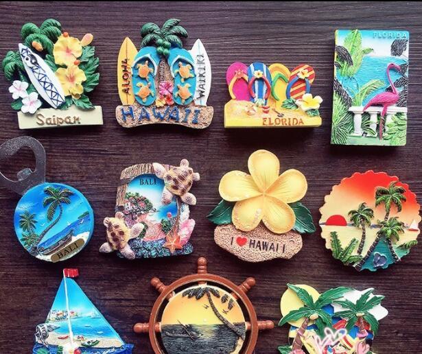 Bali Saipan, Florida, Hawaii Travel Souvenir Fridge Magnet