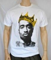 TUPAC SHAKUR König Crown Herren T-shirt Hip Hop Swag NWA Westküste 2pac T-shirt Westside Geschenk Dope T-shirts Coole Tops t-shirt