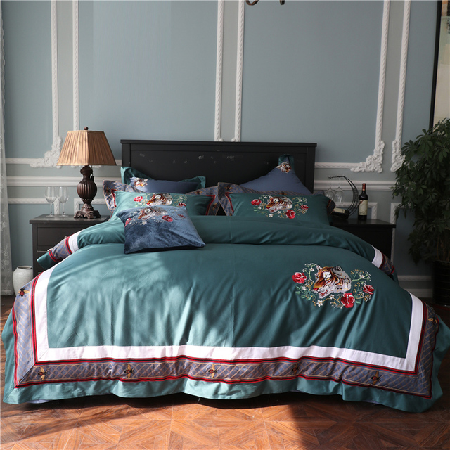 luxury 100s egypt cotton beauty and the beast bedding set