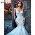 Luxury Bridal Mermaid / Trumpet Wedding Dresses 2017 Embroidered Lace Long Train 100%Customized Handmade