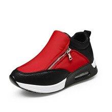 Mode Bouche Profonde Couleur Bloc Femmes de Plate-Forme Chaussures Respirant Fond Épais Femmes Casual Chaussures Dames Chaussures