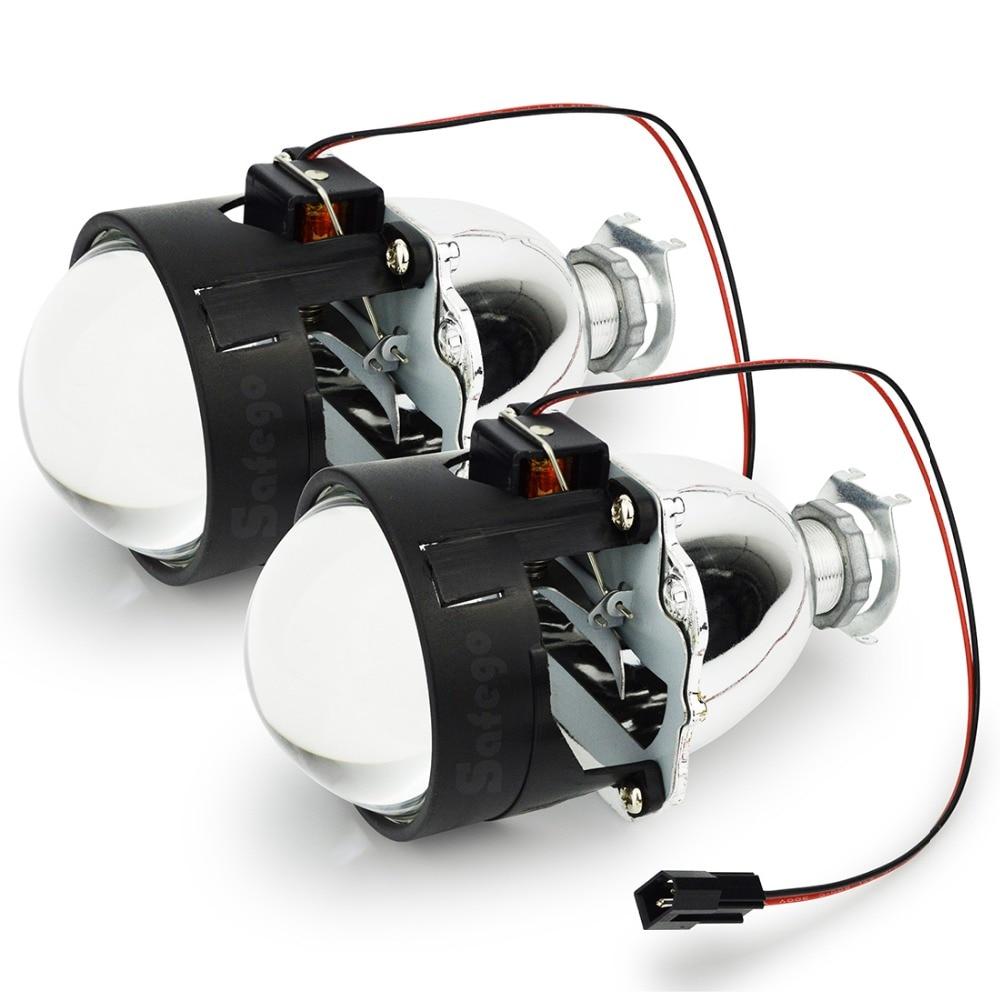Safego 1 pár LHD 2,5 hüvelykes autós Bixenon HID kivetítő - Autó világítás