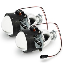 WST 2.5 inch HID Bixenon projector lenses H1 H7 H11 H4 9005 9006 8000K 6000K 4300K bi xenon projector lens light  цена