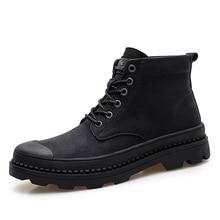 Winter boots Fashion Safety Boots Steel Toe mid-plate Anti-slip Anti-smashing Wilderness Survival Work Men %1218