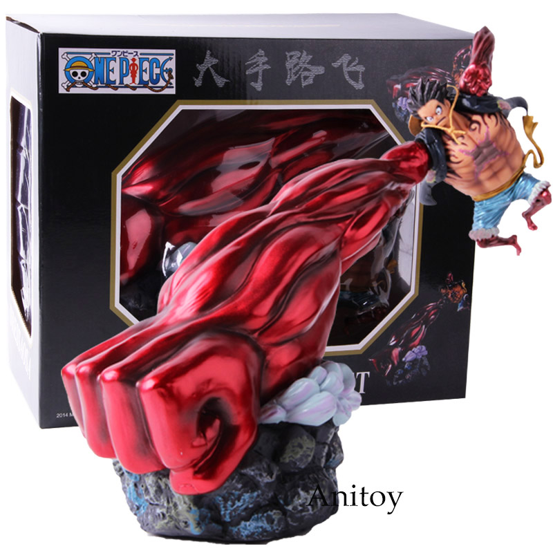 One piece gear 4 Луффи Фигурка Обезьяна D Луффи Шестерня Четыре ПВХ Коллекционная модель игрушки - Цвет: A with retail box