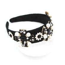 Rhinestone Wedding Hair Accessory Womens Jeweled Baroque Headband with Gems Diamonds Beach Korea Ins Wild Dance Party