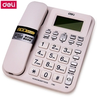 Deli 788 seat type telephone set corded telephone caller ID display and memory office household telephone set