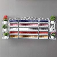 New Multiple Size Shelf Iron Nail Polish On The Wall Shelf Display Cabinet Shelf Cosmetics Shop
