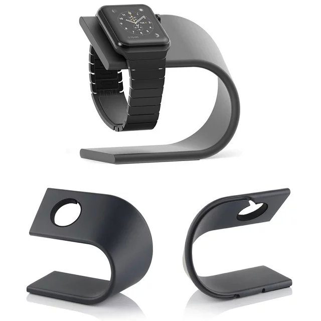 Alloy Aluminium Watch Stand Docking Charger Station Holder for Apple iWatch Charging Dock charging dock station platform apple watch charging dock station platform iwatch charging stand bracket docking station holder for 2015 apple watch [38mm and 42mm] compatible with both models