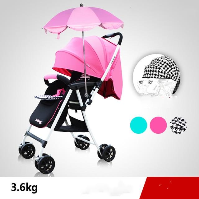 Stroller can sit can lie ultralight bb car high landscape two-way umbrella stroller baby boy