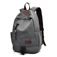 DIDA BEAR New Unisex Men Canvas Backpacks Large School Bags For Teenagers Boys Girls Travel Laptop