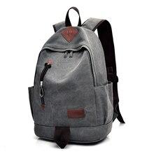 DIDA BEAR New Unisex Men Canvas Backpacks Large School Bags For Teenagers Boys Girls Travel Laptop Backbag Mochila Rucksack Grey