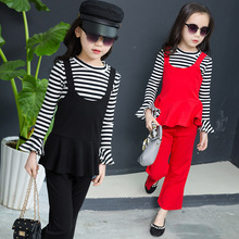 цена на New Girls Clothes Sets Spring Autumn Girls Sport Suit 3PCS Children Clothing Casual Cotton Kids Tracksuits Set 4 6 8 10 11 Years