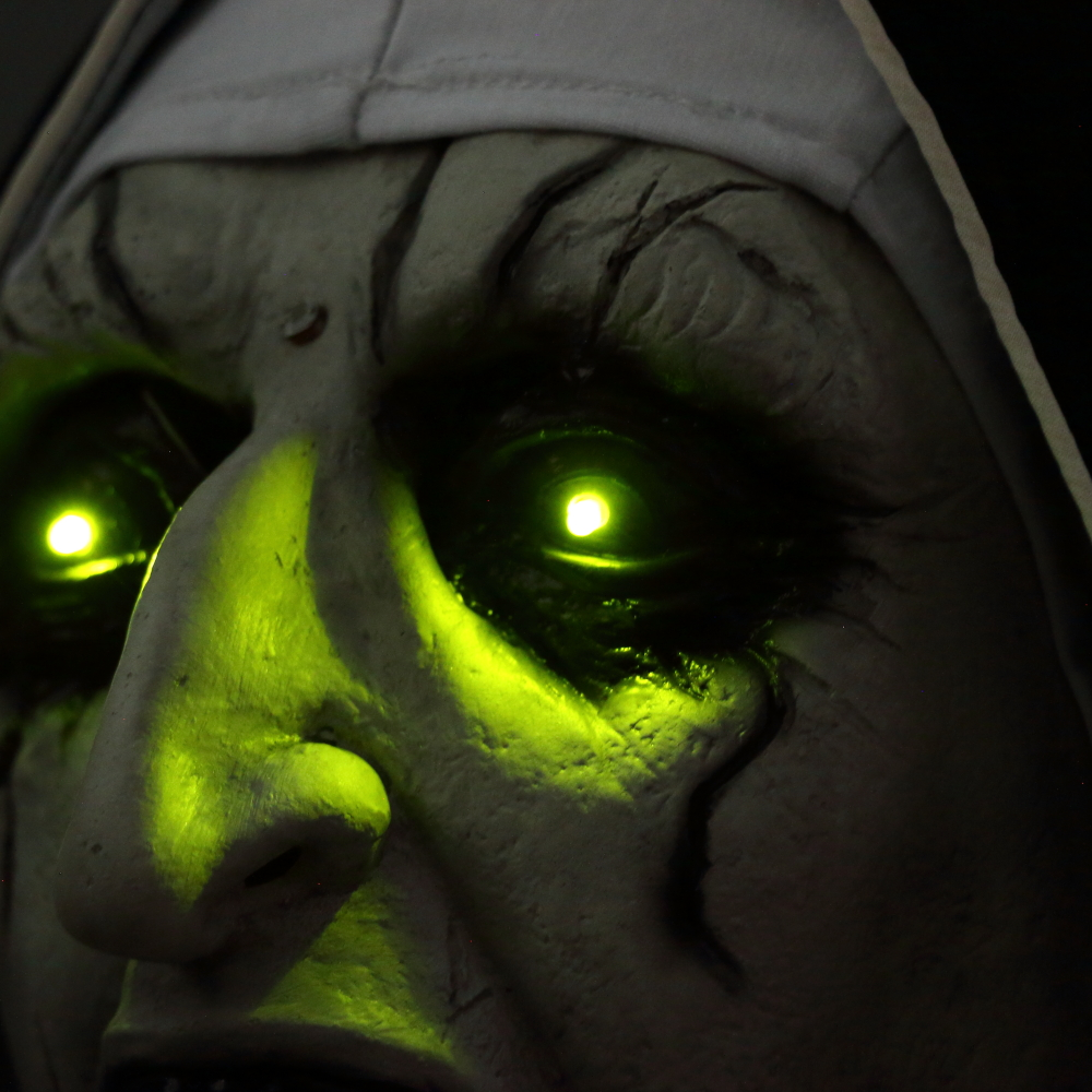 The Nun Mask Horror Mask With Scary Voice With Led light Cosplay Valak Latex Masks With Headscarf Helmet Halloween Party Props 3