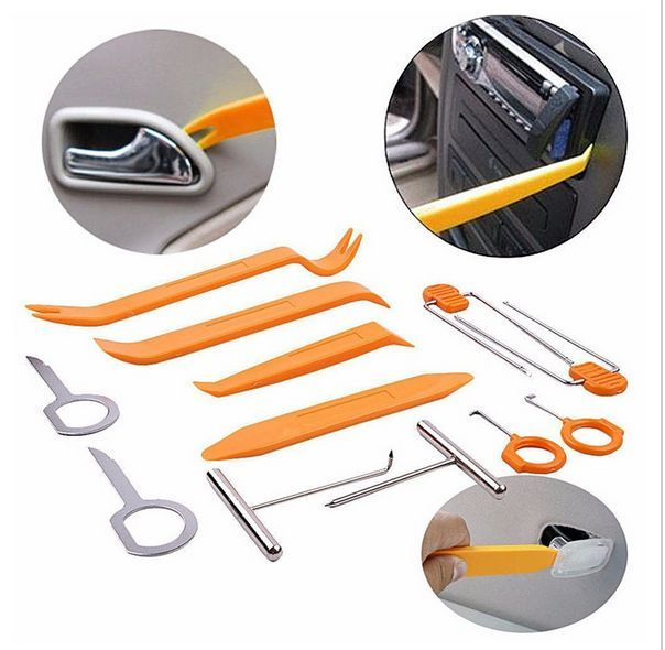 12pcs Car Stereo Installation Kits for Car Radio Removal and Assembly Panel Disassemble Door Clip Trim Dash Audio Hand Tools Set